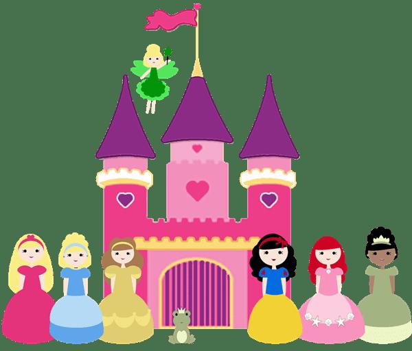 Disney Princess Pink Castle Clip Art