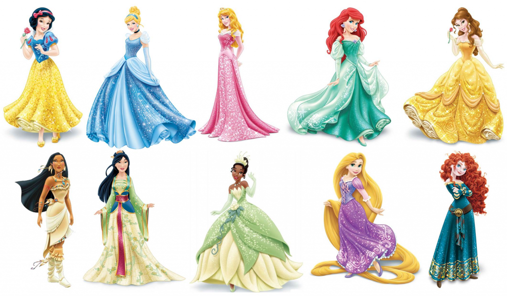 Disney Princesses Clip Art (Source: clipartix.com)