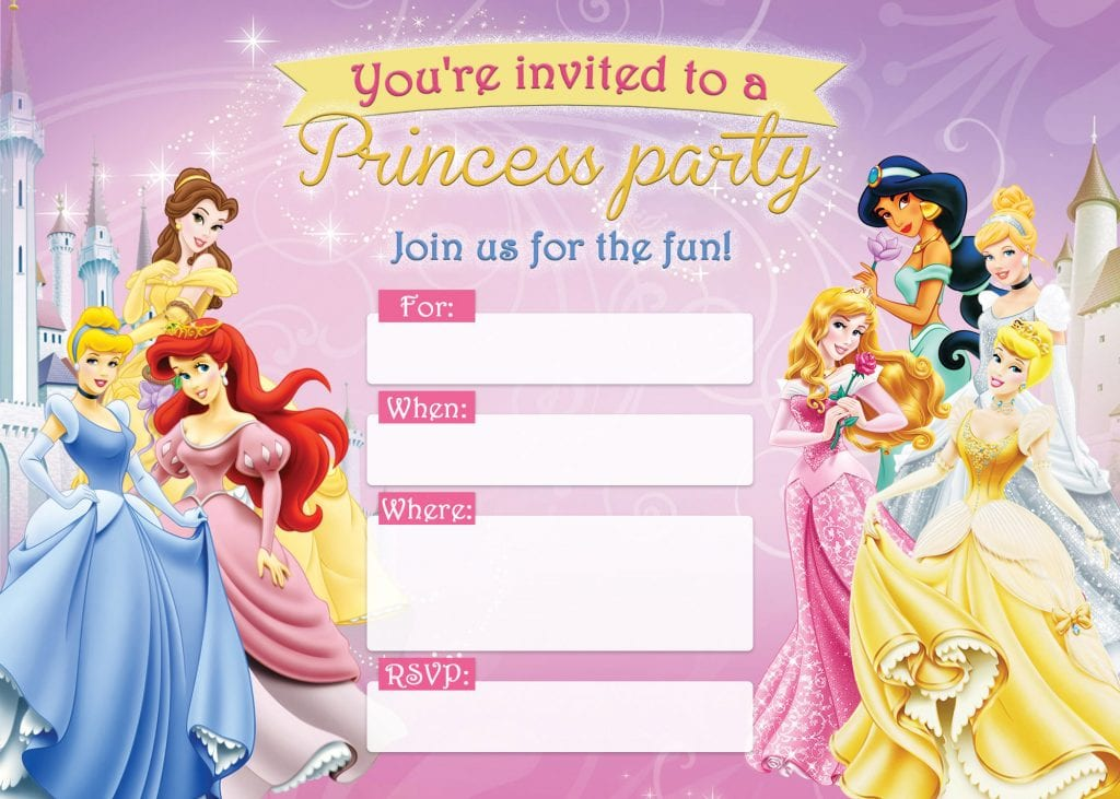31 Free Printable Disney Princess Birthday Invitations D Is For
