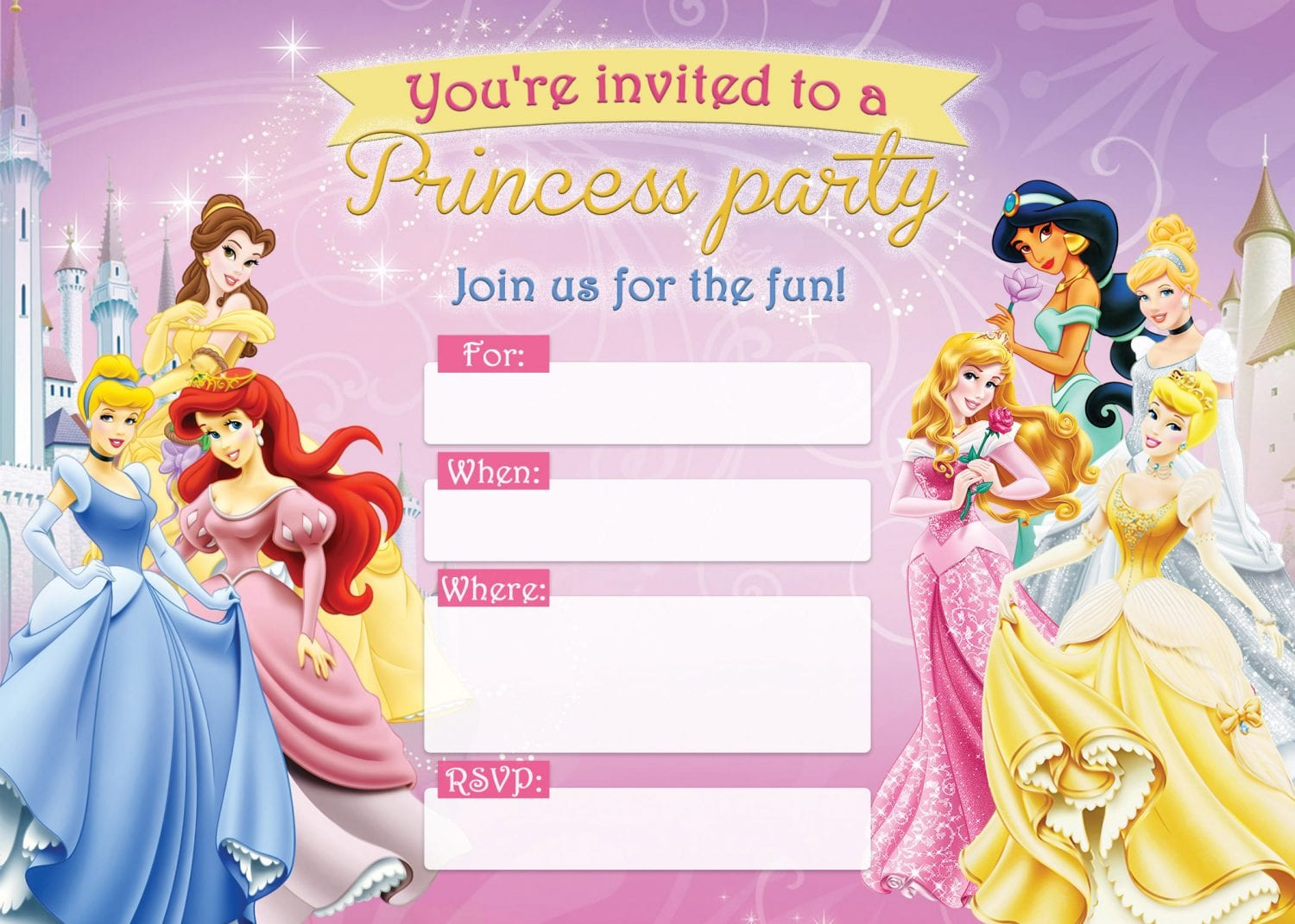 Download This Free Princess Birthday Printable Right Here!