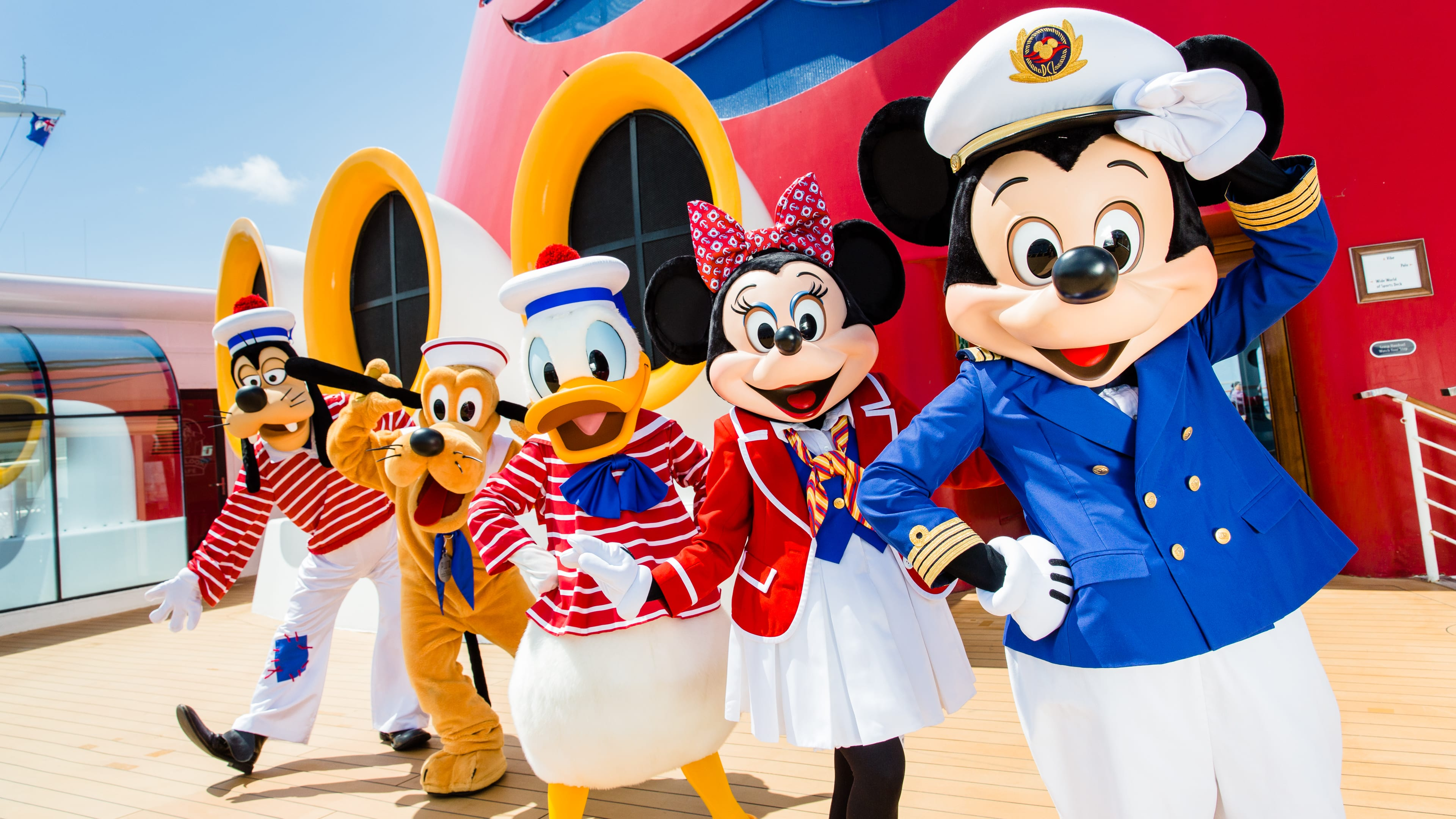 Mickey and the Gang on the Disney Cruise Line
