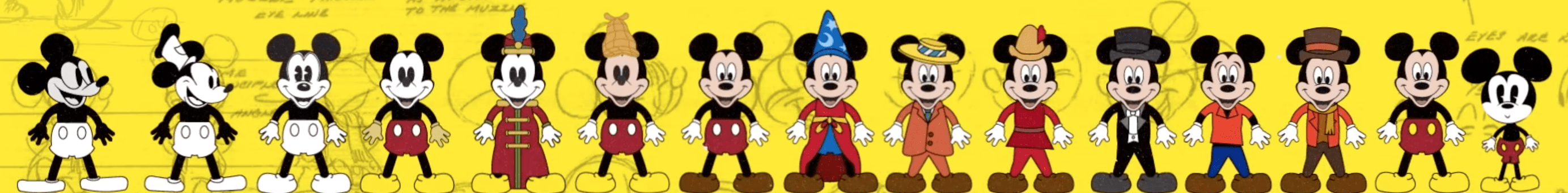 How Mickey Mouse Has Changed Over Time (Video)