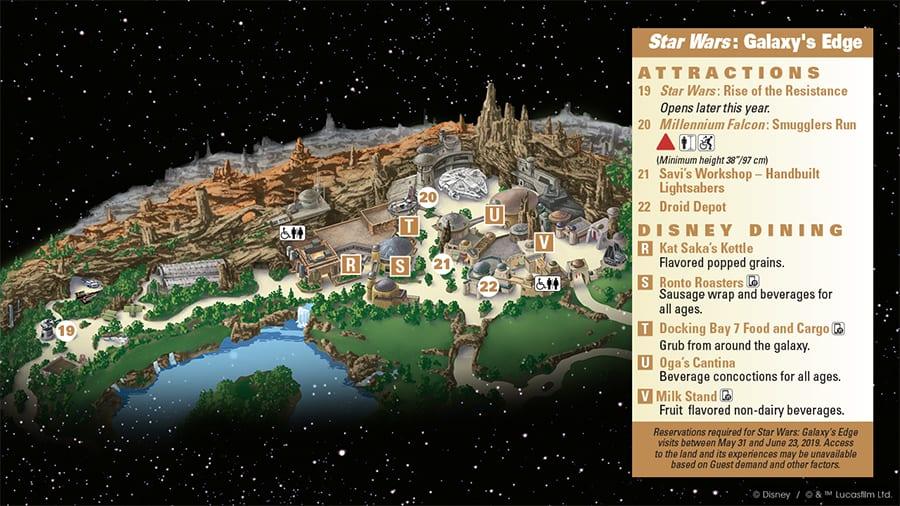 Star Wars: Galaxy's Edge Guide Map
