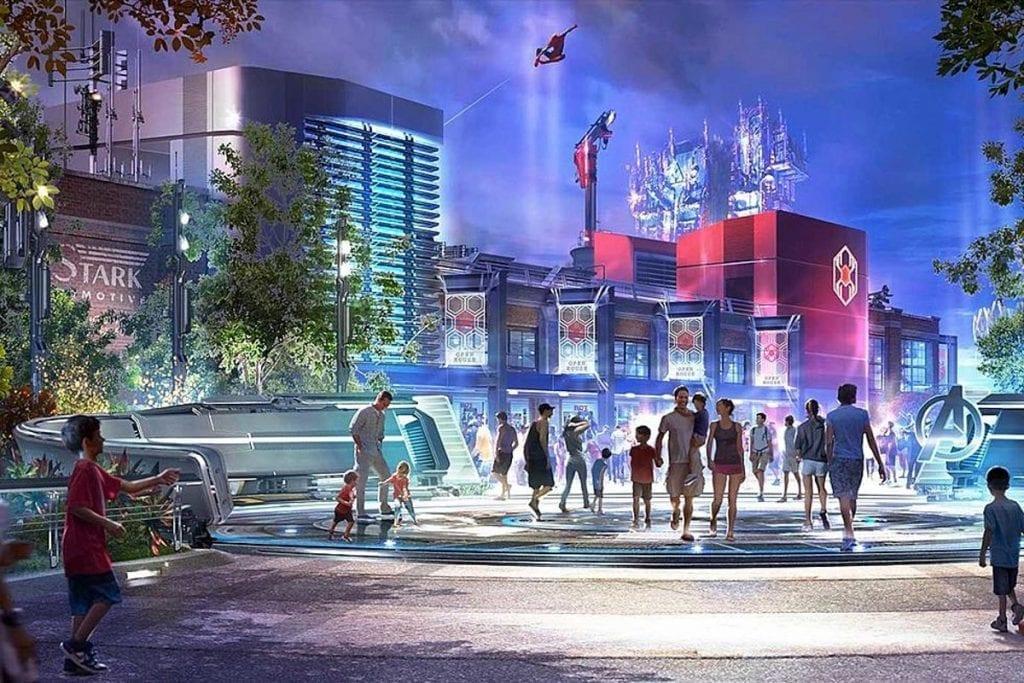 Concept Art for Disney's Marvel Land Expansion at Disneyland's California Adventure for 2020