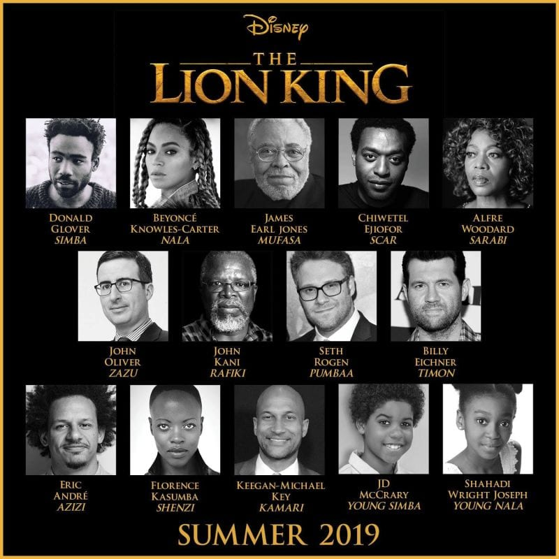 Cast of Live-Action 'The Lion King'