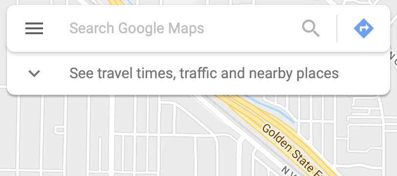 Google Maps Search Bar