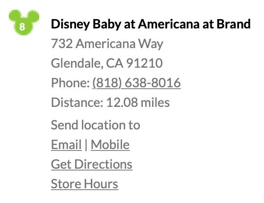 Disney Baby Store Near Me