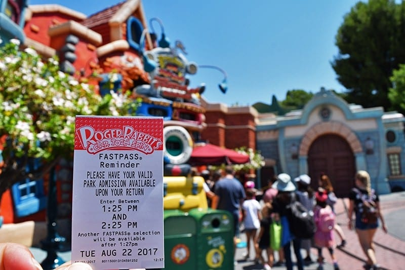 FASTPASS Reservations Paper Ticket [Source: Undercover Tourist]