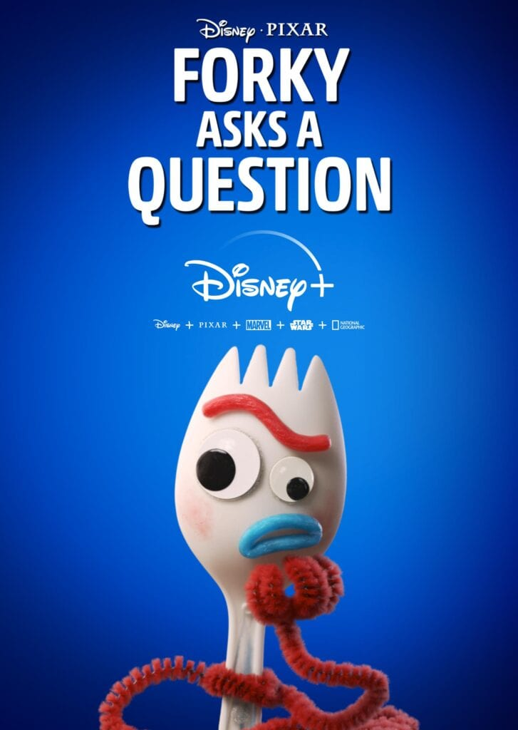Forky from Toy Story 4 Asks Questions on Disney Plus [Source: Disney Plus]