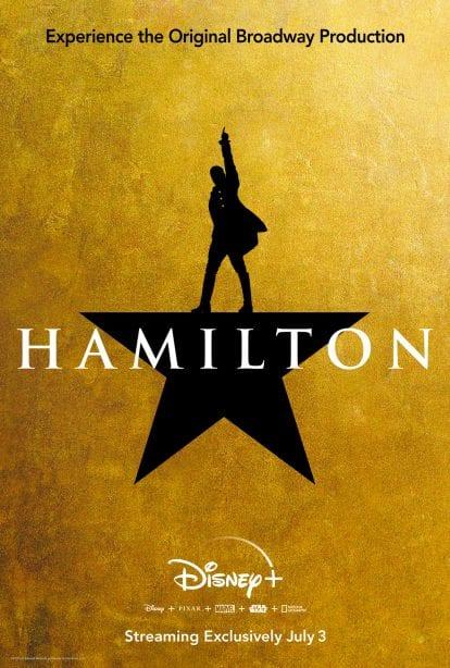 'Hamilton' Official Poster by Disney Plus [Source: The Walt Disney Company]