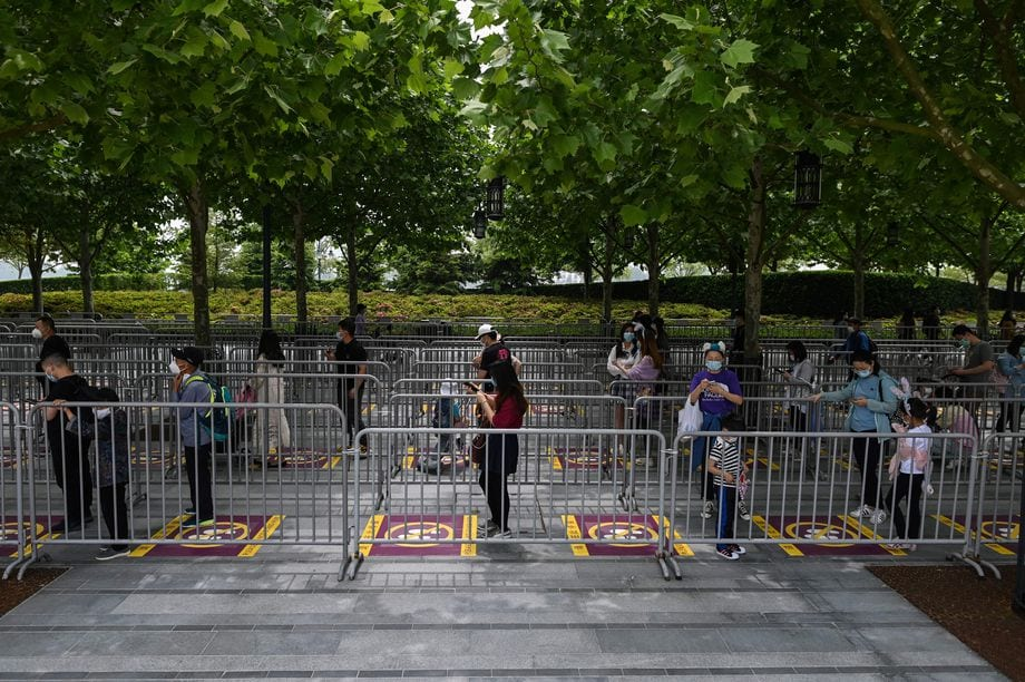 Ground markings at Shanghai Disneyland [Source: The Verge]
