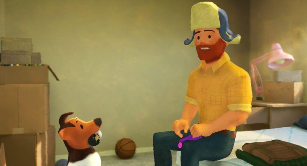 Greg with his dog [Source: Pixar Animation Studios]