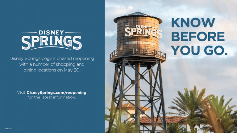 Official Disney Springs Reopening Policy May 2020 [Source: Disney Parks Blog]