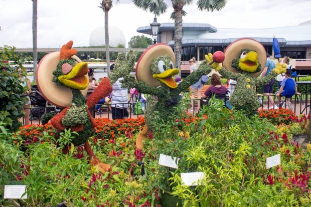 Panchito Pistoles, Donald Duck and Jose Carioca at Epcot theme park [Source: Orange County Register]