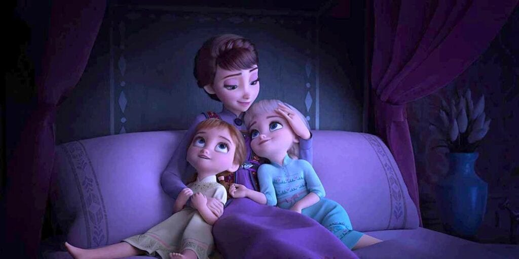 Queen Iduna, Young Anna, and Young Elsa [Source: Cinema Blend]