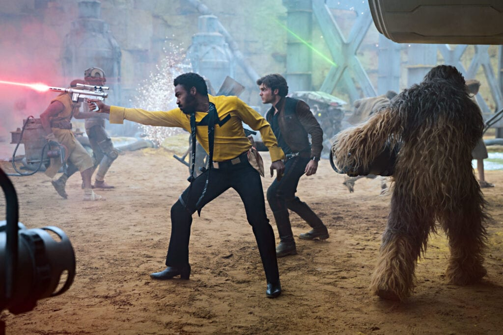 Lando, Han, and Chewbacca in Solo: A Star Wars Story [Source: Disney]
