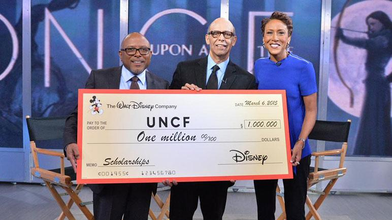 Disney Donates to UNCF [Source: The Walt Disney Company]
