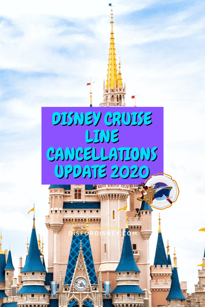 Disney Cruise Line Cancellations Update for 2020 Pinterest Pin