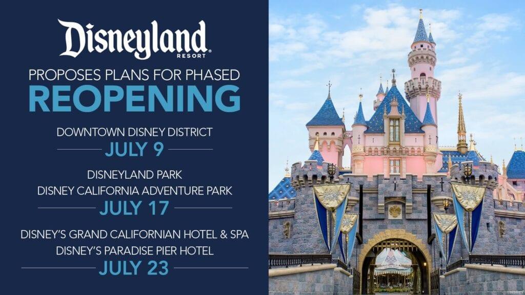 BREAKING: Disneyland Releases Plan for Reopening in July! [Source: Disneyland]