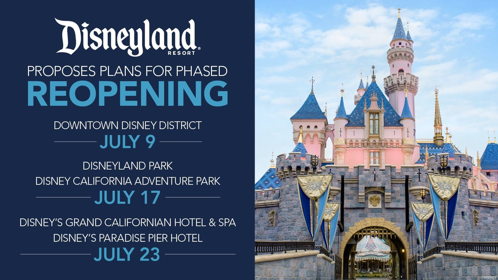 Disneyland Reopening Plan for July 2020