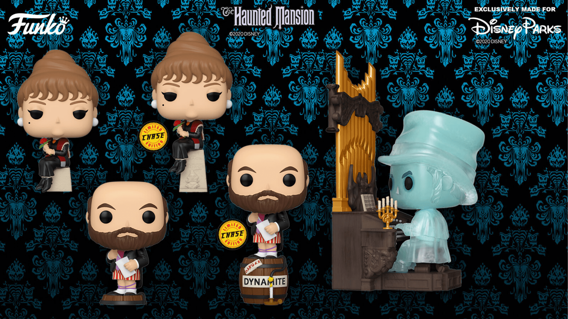 Haunted Mansion Stretching Room Portraits Funko Pop [Source: Box Lunch]