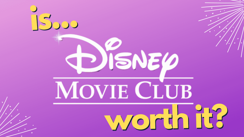 Is Disney Movie Club Worth It? Social Share Image and Pinterest Pin