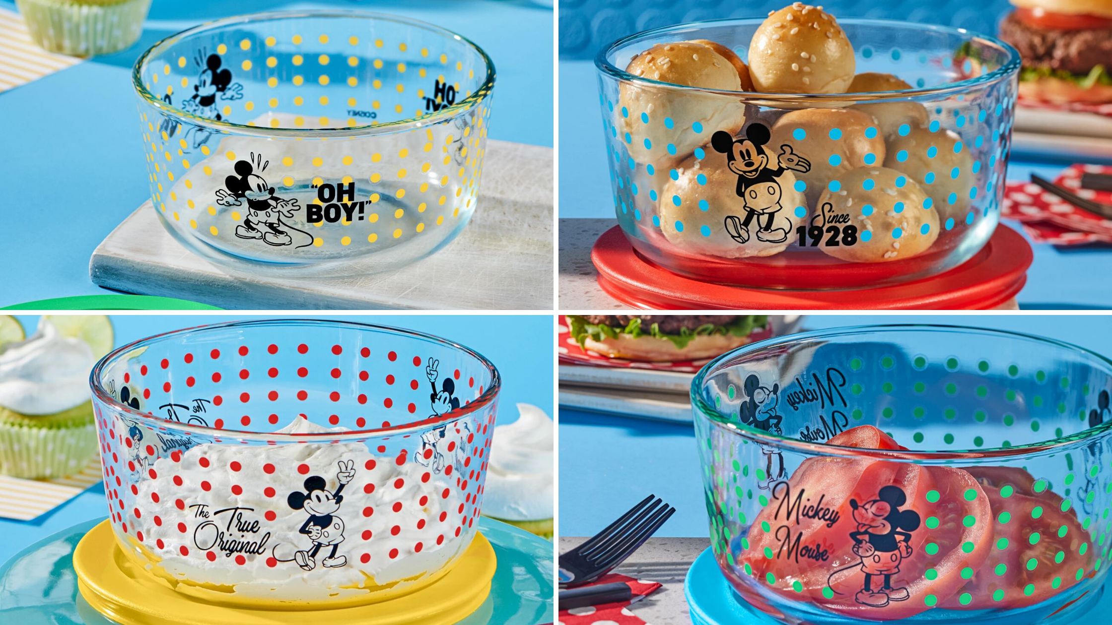 Mickey Mouse Disney Pyrex Bowls