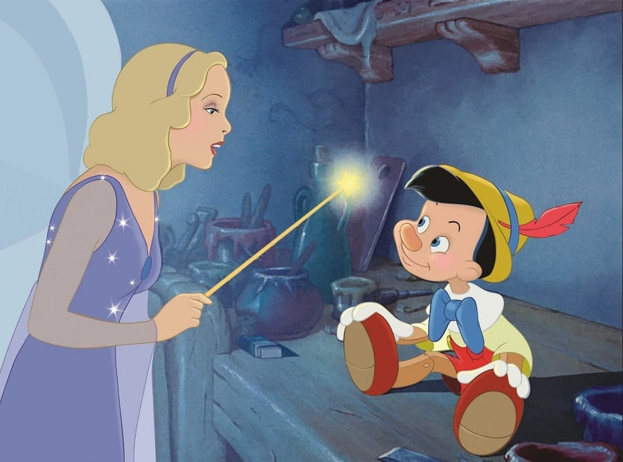 Pinocchio and The Blue Fairy [Source: Our Family Lifestyle]