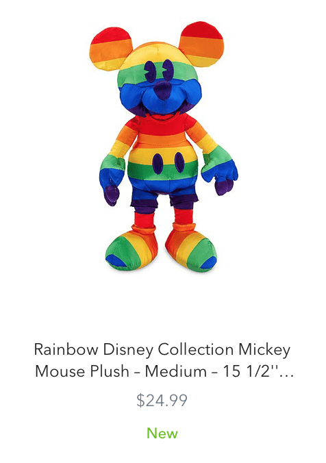 New Rainbow Disney Collection for Pride Month 2020 Mickey Mouse
