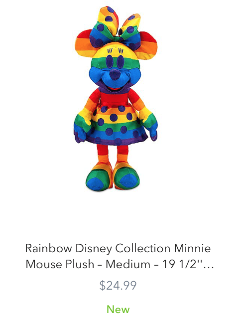 New Rainbow Disney Collection for Pride Month 2020 Minnie Mouse