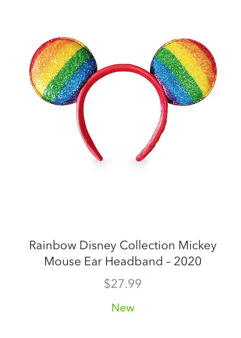 New Rainbow Disney Collection for Pride Month 2020 Minnie Mouse Ears