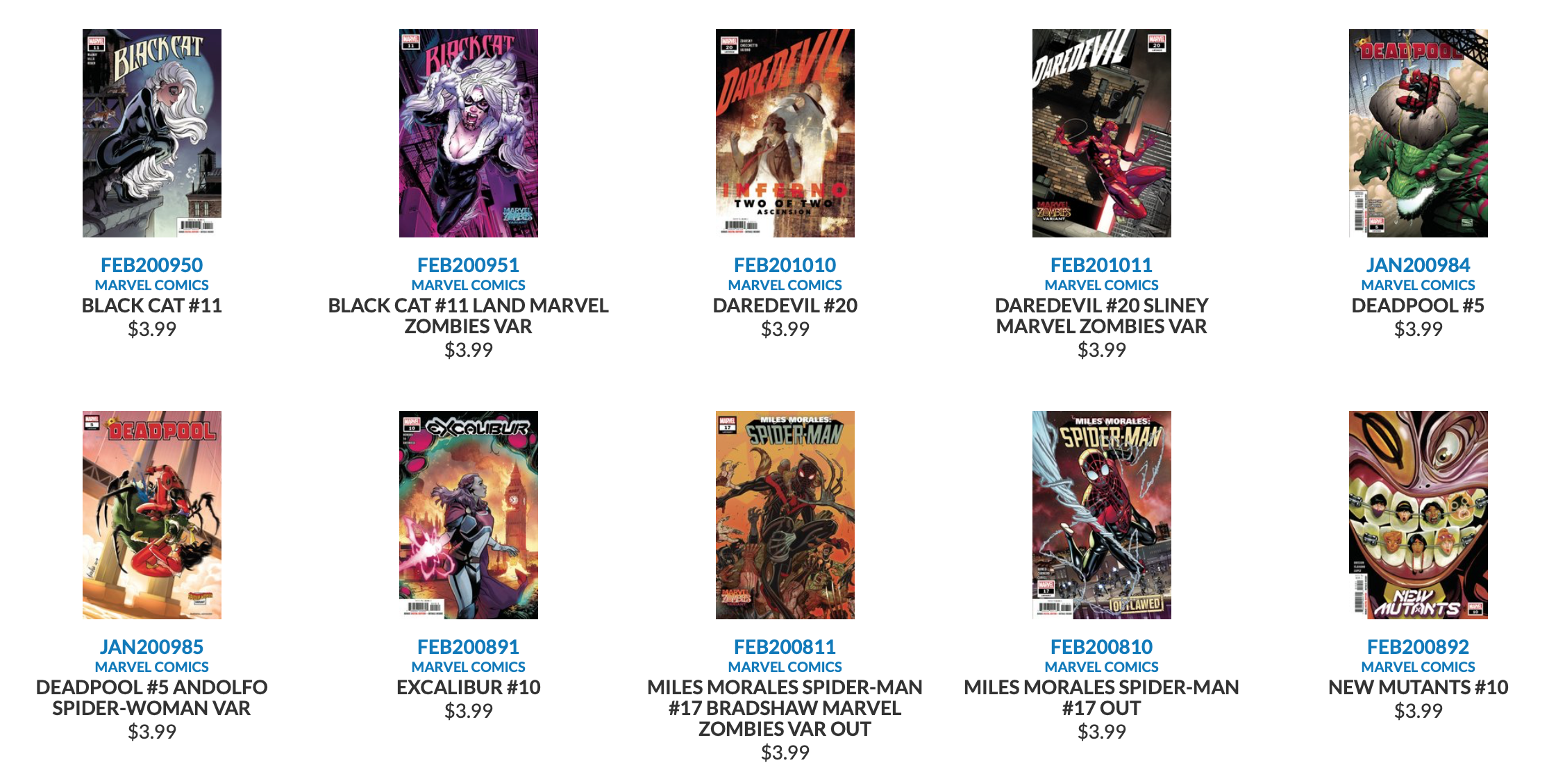 New Marvel Disney Comics Releases 6-10-2020
