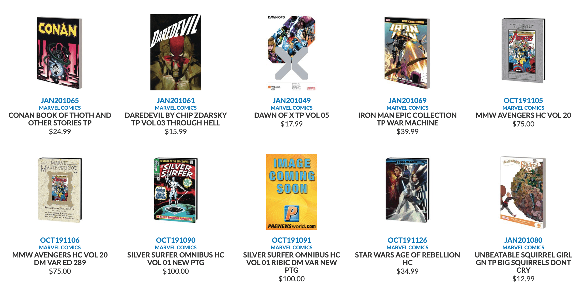 All the New Marvel and Disney Comics Coming June 17 [Source: Previews World]
