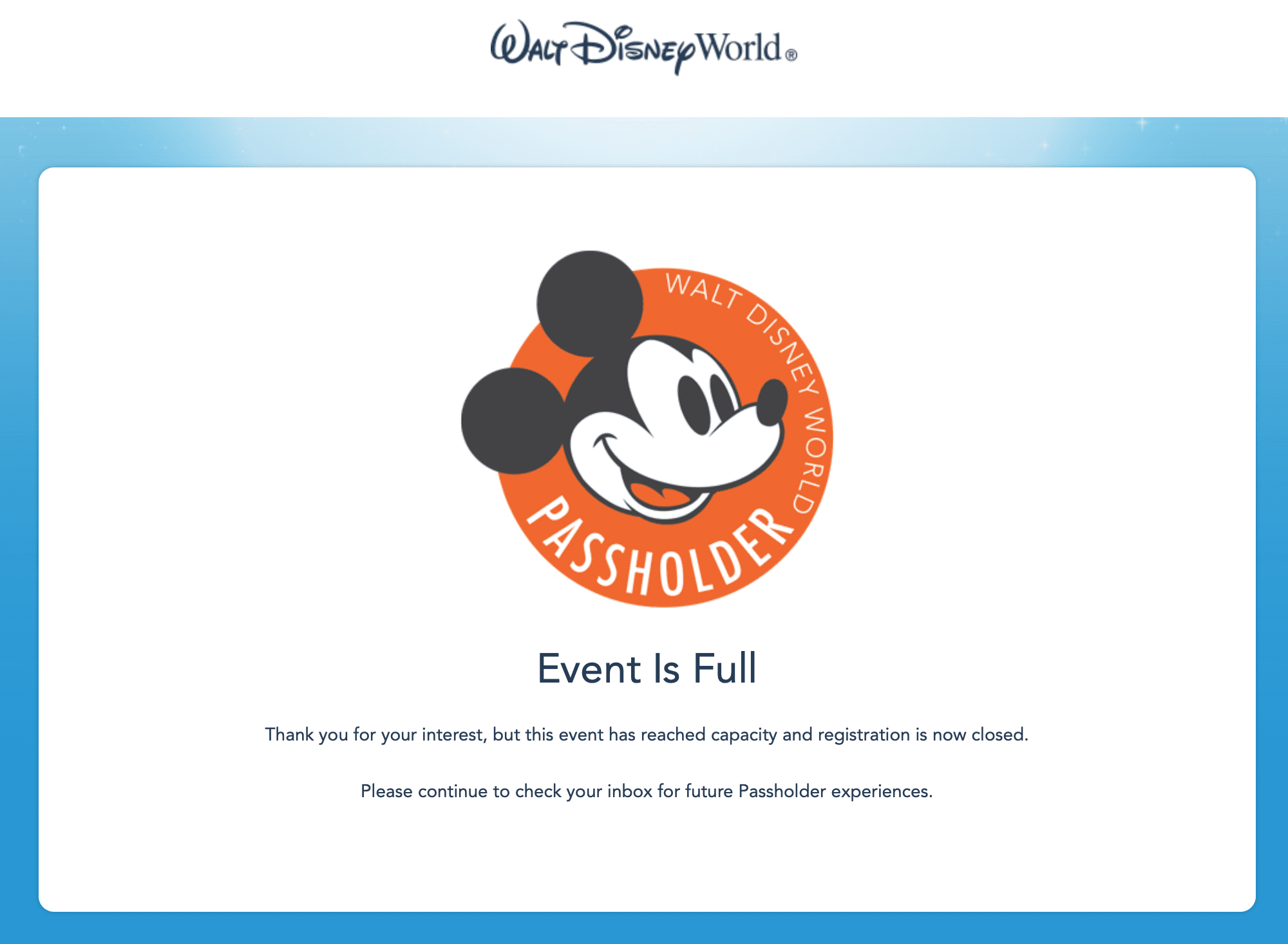 Disney Annual Passholder Preview Days