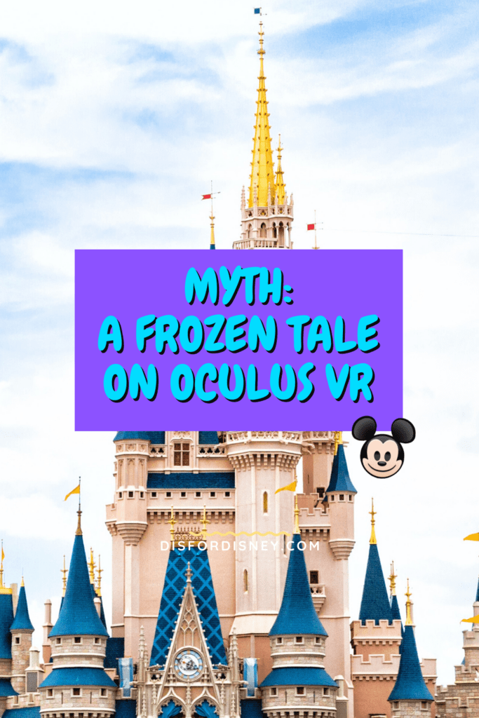 Pinterest Pin for Myth: A Frozen Tale on Oculus VR