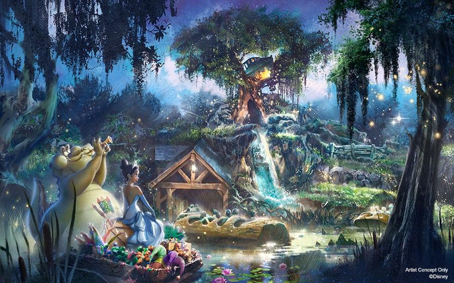 New Princess and the Frog Concept for Splash Mountain Renovation [Source: Disney Parks Blog]