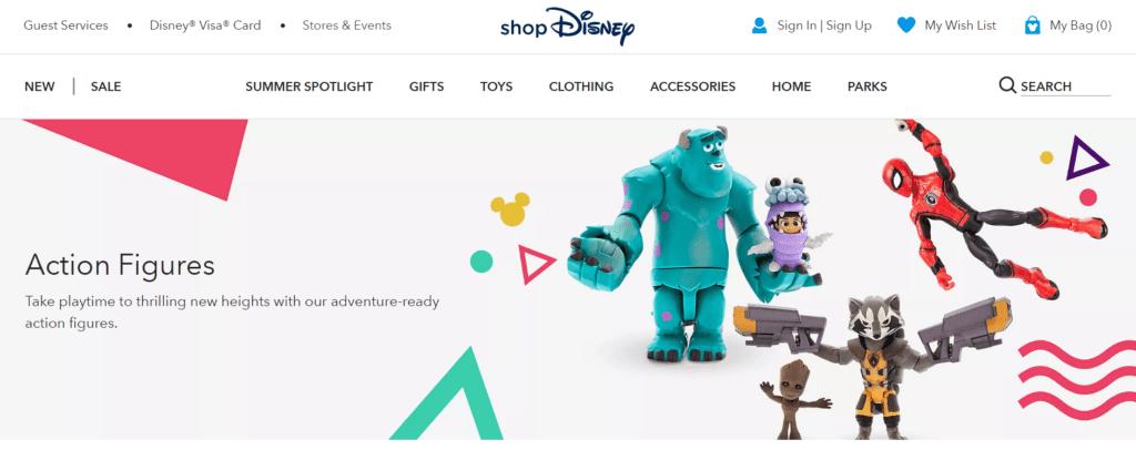 Shop Disney Page