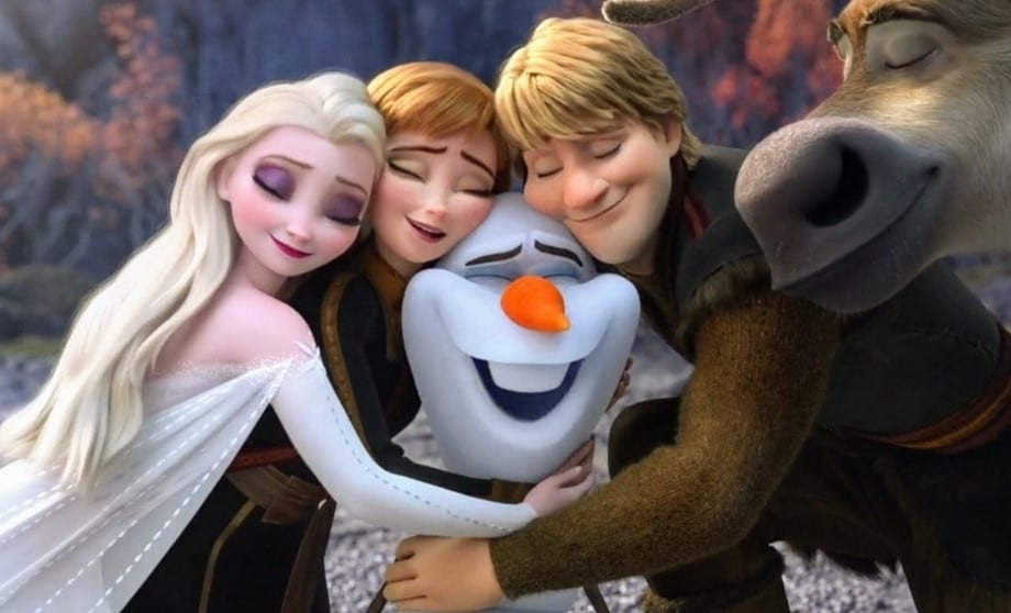Elsa, Anna, Olaf, Kristoff, and Sven in Frozen 2 [Source: Frozen's Official Facebook Page]