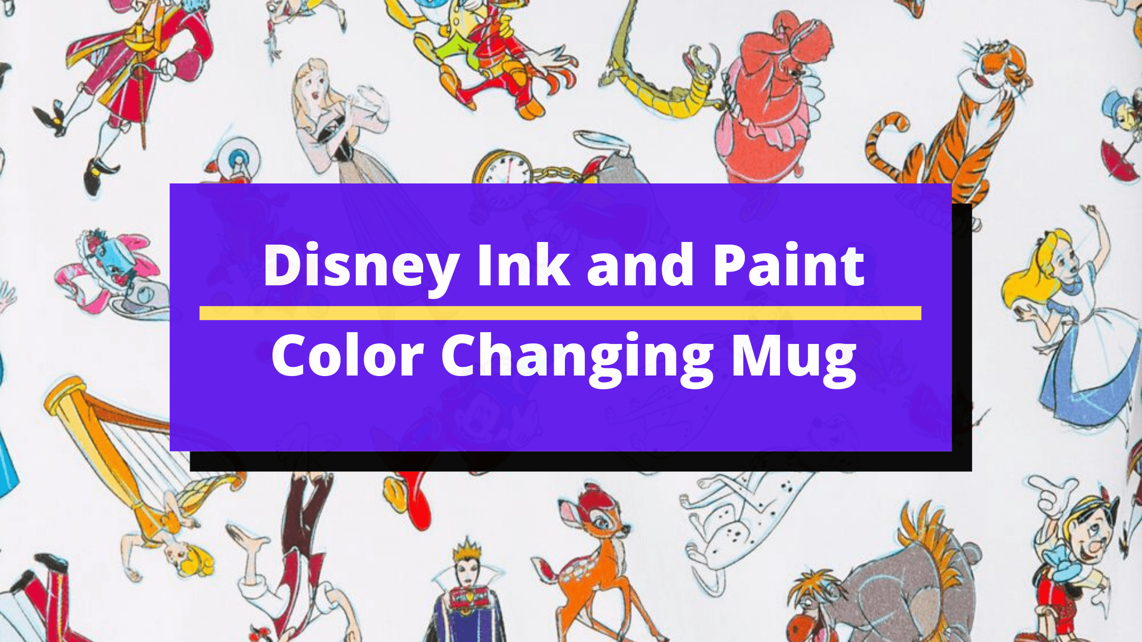 New Disney Ink and Paint Color Changing Mug