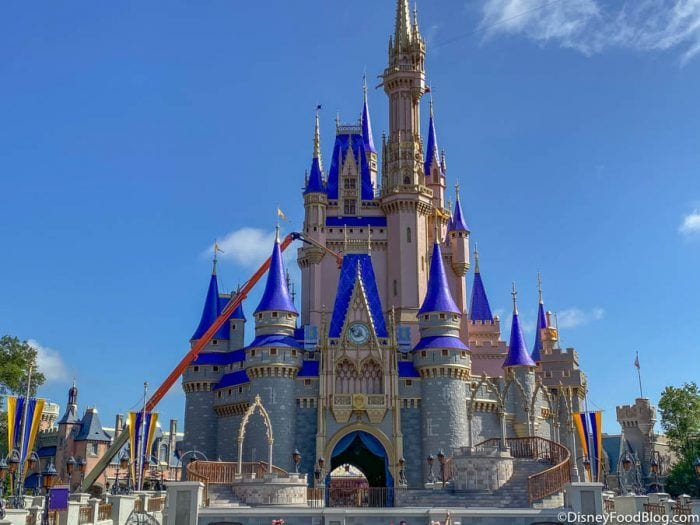 The New Disney World Castle Makeover Painting