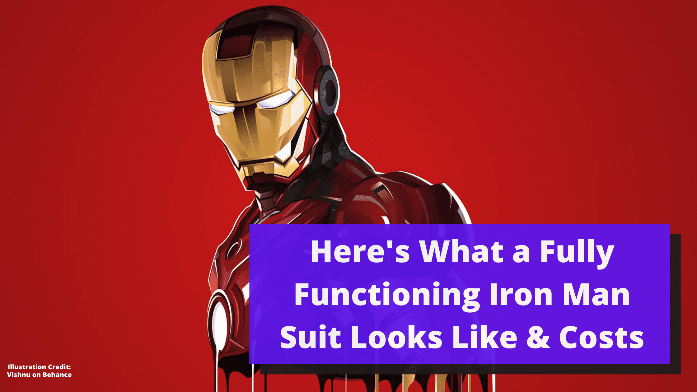 Here's What a Fully Functioning Iron Man Suit Looks Like & Costs