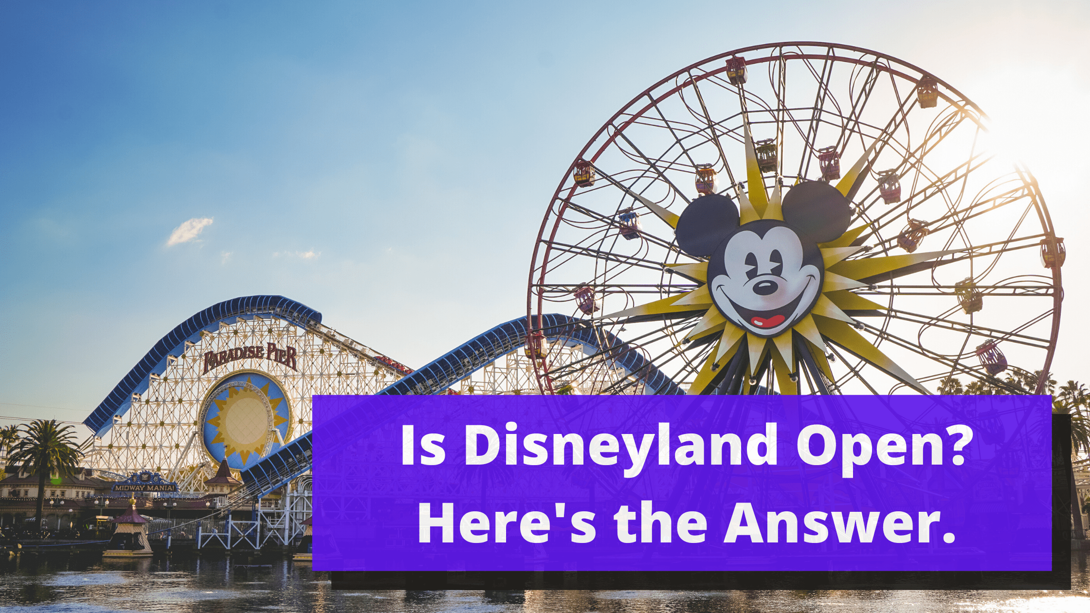 Is Disney land Open? Here's the Answer.
