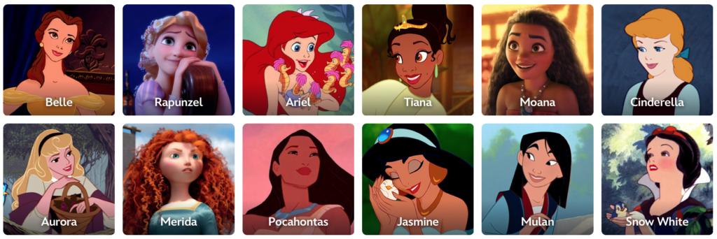 Disney Princess List [Source: Disney Princess]