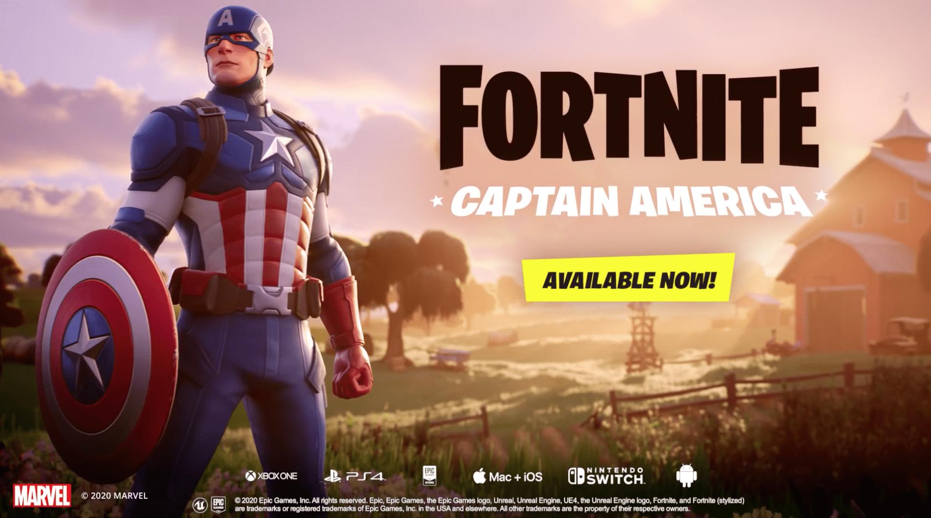 Captain America in Fortnite