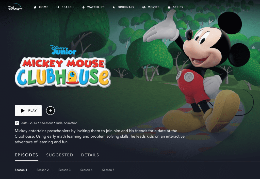 Mickey Mouse Clubhouse on Disney Plus [Source: Disney+]