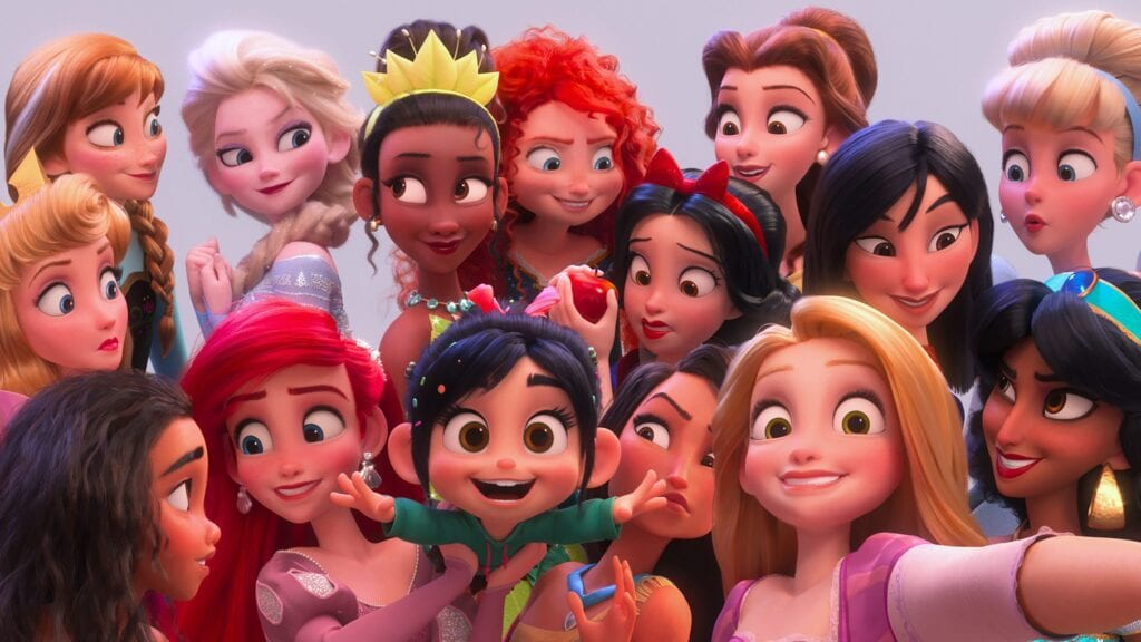 Princess Vanellope with All of the Disney Princesses [Source: Disney]
