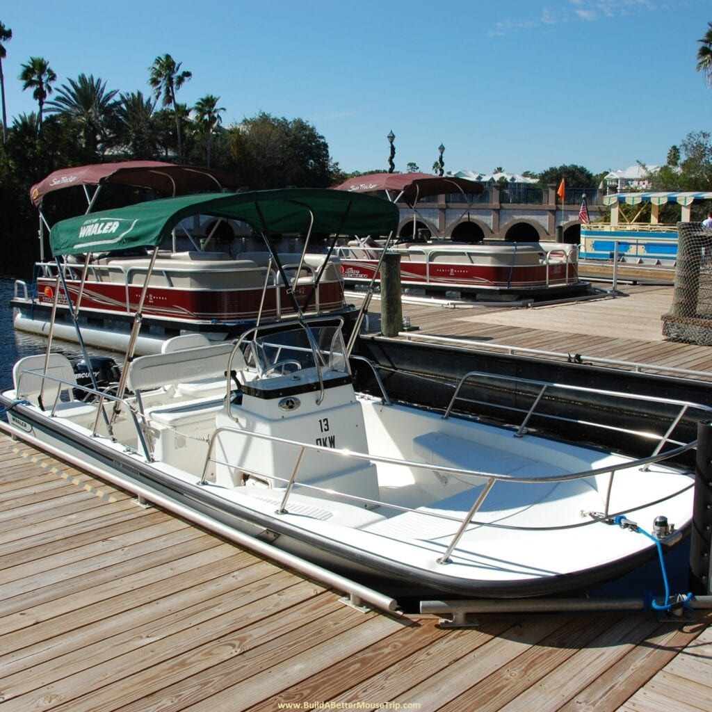 Disney World Pontoon and Yacht Rental Boats [Source: Build a Better Mousetrap]