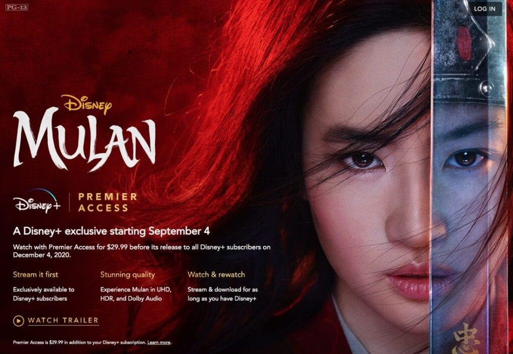 Disney's Mulan on Premier Access Disney Plus [Source: Insider]