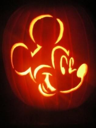 Easy Mickey Mouse Pumpkin Carving Ideas [Source: Six Sisters Stuff]