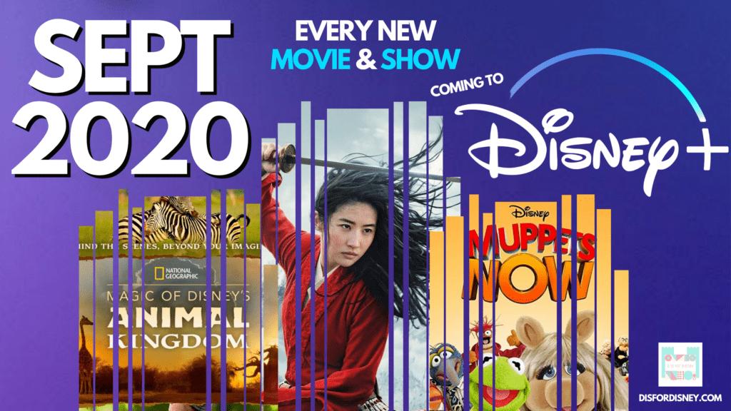Everything Coming to Disney Plus September 2020